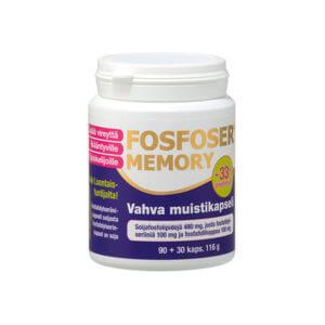 Hankintatukku Fosfoser Memory 90 + 30 kapselia.