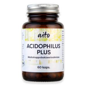 Aito Acidophilus Plus Maitohappobakteeri 60 kapselia.